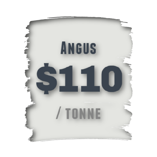 Angus waste rate $110 per tonne